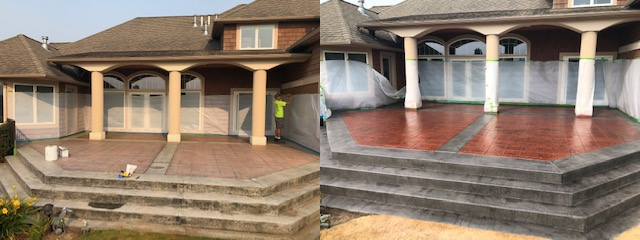 before and after concrete patio restoration
